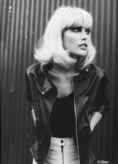 fashion editorial | blonde | hot | bombshell | bob | leather | sexy | waiting |