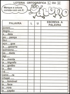 Blog Professor Zezinho : Exercícios de Ortografia Primary School, Bullet Journal, Classroom, Luigi, Gabriel, Tall Tales Activities, Interactive Activities, Spelling Word Practice, Fun Learning