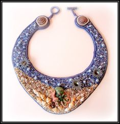 On the Reef  A Bead Embroidered Collar by beadazzledbysandy, $395.00