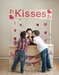 Kissing Booth by KathrynRenePhotography, via Flickr --I wanna do someday with my kiddos! :)