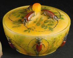 Almaric Walter, Nancy, c. 1920, pâte-de-verre bowl.