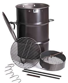 Pit Barrel Cooker | Your jaw will hit the deck as you pull one round of deliciously smoked meats after another from this magic drum with little more effort than trimming and seasoning. Furthermore the meat hanging method provides beaucoup capacity.