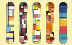 Mondrian Boards Illustrations Inspired by Pop Culture  Illustrator and designer Hyo Taek Kim imagined different designs of snowboards through illustrations inspired by pop culture and Mondrians paintings. Through the minimalist squares and rectangles of the painter he took the colors of different animated movies and TV shows such as Lion King The Simpsons My Neighbor Totoro Spirited Away and Ponyo. A work paying tribute to Miyazaki and Matt Groening like his previous projects and prints…