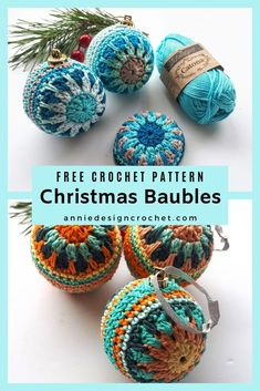 Crochet Christmas Baubles to decorate your home for the Holidays. Free crochet pattern with tutorial to make these easy baubles Crochet Christmas Baubles to decorate your home for the Holidays. Free crochet pattern with tutorial to make these easy baubles Crochet Christmas Decorations, Christmas Crafts, Free Christmas Crochet Patterns, Crochet Ornament Patterns, Diy Crochet Ornaments, How To Decorate For Christmas, Christmas Baubles To Make, Crochet Christmas Gifts, Christmas Tables