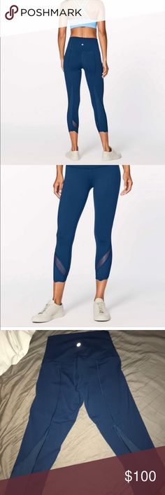 70d113e8d3 Lululemon size 2 blue pants Size 2. Bought off another posher and she said  it