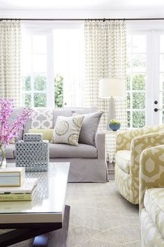 Soft Color Palette in Living Room | Jennifer Davis