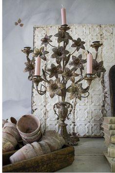 French church candle holder #Home #French #Decor www.IrvineHomeBlog.com/HomeDecor/  ༺༺  ❤ ℭƘ ༻༻