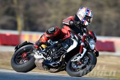 MV Agusta Brutale Dragster 800 RR corner action shot