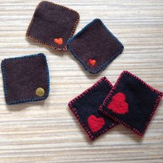 More felted coasters