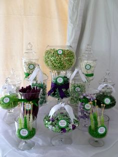 Unique College Graduation Party Ideas | Spoonful of Sugar Custom Candy Buffets: The Color Purple!