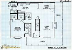 Log Home Design Plan and Kits for Charleston