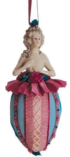 Antique porcelain half-doll Tassel