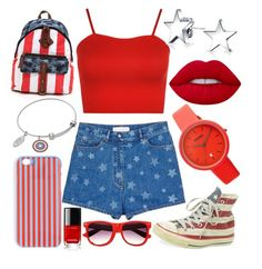 """""""ABbz Set #91"""" by andy-barbz on Polyvore featuring Valentino, Converse, WearAll, Bling Jewelry, Lime Crime, Crayo and J.Crew"""