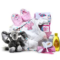 Sweet as honey baby gift basket gift baskethttpamazon 7800 the elephant themed baby gift basket is an adorable array of elephant products perfect negle Image collections