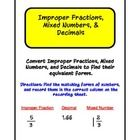 Use to create a file folder activity or Work Station for practicing converting numbers. Includes 36 cards, cover page, and recording sheet. Great f...