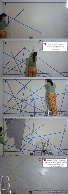 erika karpuk painting on the wall 1 erika karpuk pintura na parede 1 erika karpuk painting on the wall 1 Room Decor Bedroom, Diy Room Decor, Home Decor, Master Bedroom, Wall Design, House Design, Diy Wall Painting, Diy Casa, Interior Design Living Room