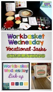 Workbasket Wednesday Vocational Jobs Simulations November 2015 from Autism Classroom Resources