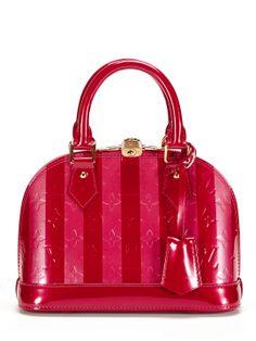 Louis Vuitton Limited Edition Pomme d'Amour Monogram Vernis Rayures Alma BB