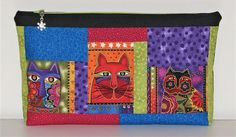 Large Modern Zippered Pouch Cosmetics Bag Project Bag