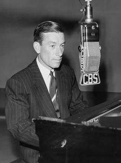 """Hoagy Carmichael (1899 - 1981) Composer, pianist, singer, actor, wrote the songs """"Georgia on My Mind"""" and """"Stardust"""", appeared in the movies """"To Have and Have Not"""" and """"The Best Years of Our Lives"""""""