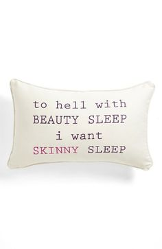 Levtex 'Beauty/Skinny Sleep' Pillow available at #Nordstrom