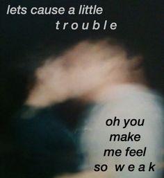 trouble // halsey pinterest || hsummer11