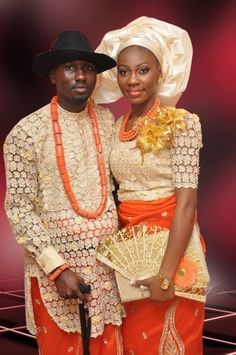 Niger Delta/ Urhobo Traditional Wedding on Pinterest | Nigerian ...