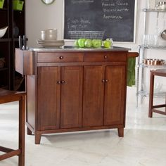 The Espresso Stationary Kitchen Cart with Optional Stools contemporary kitchen islands and kitchen carts Home Decor Kitchen, Kitchen Design, Kitchen Stuff, Kitchen Ideas, Kitchen Island Cart, Kitchen Islands, Kitchen Carts, Island On Wheels, Contemporary Kitchen Island