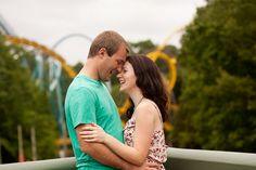 Becca & Matt's Busch Gardens Engagement Session in Virginia