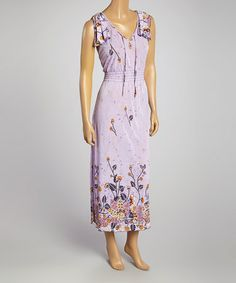 6857b1753e Another great find on  zulily! Lavender Angel-Sleeve Silk-Blend Maxi Dress