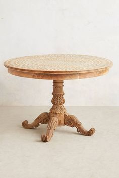 "Floriate Inlay Table - anthropologie.com | $1,998 for the 58"" dia. table, 30"" high"