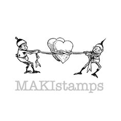 Wedding stamp / Rubber stamp Valentine / Love and by MAKIstamps, €3.20