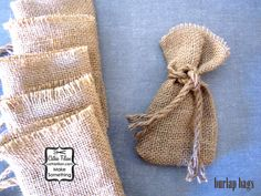 Burlap Bags party favor 6 sacks treat bag by cathiefilian