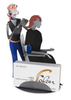 Interior Place - Hair Stylist Business Card Holder, $44.90 (http://www.interiorplace.com/hair-stylist-business-card-holder/)