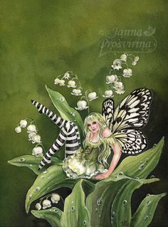 Lily-of-the-Valley by ~Kuoma on deviantART ~ fairy