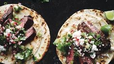 Steak Tacos with Cilantro-Radish Salsa Recipe | Bon Appetit