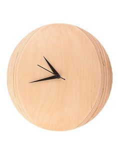 Buy tural Serif Natural Birch Ply Wall Clock (Dia:9.9in H:1.2in) Home Decor Accents An Artisanal Manipur black pottery serveware and wood glass accents. Ships within India only Online at Jaypore.com