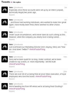 HMV X Factor Firing