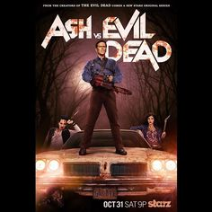 #AshVsEvilDead seems to be an awesome show and it's perfect that it debuts on #Halloween  #Starz #Deadite #LucyLawless