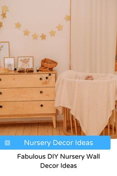 For those soon-to-be-parents who're a little more on the creative side, why not try out some DIY nursery wall decor ideas? Check them here. Nursery Design, Nursery Wall Decor, Diy Wall Decor, Nursery Room, Bedroom Decor, Home Decor, Design Room, Nursery Ideas, House Design