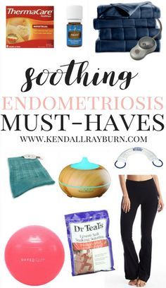Soothing Endometriosis Must-Haves - If you have pain from a chronic illness, too - be sure to check out some of these soothing favorites!