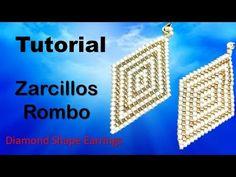 How to Make Brick Stitch and Fringe Beaded Earrings Brick Stitch Tutorial, Peyote Stitch Tutorial, Earring Tutorial, Brick Stitch Earrings, Bead Earrings, Beading Projects, Beading Tutorials, Tutorial Anillo, Beaded Bracelets