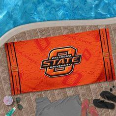 Oklahoma State Cowboys 2013 Design Beach Towel - Orange