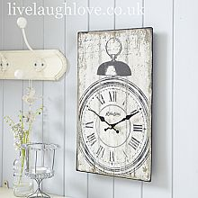 Hometime Distressed Face Wall Clock