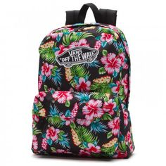 353c8f6470 Vans Realm Off The Wall Hawaiian Floral Backpack