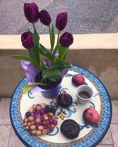 #кофекофе, #цветцвет неведомого картофеля и немного печальные помидоры. дожжжжжжж в #santamonica