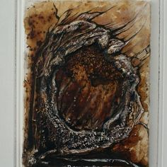 """Trolsk"" painted with coffee, acryl and ink"
