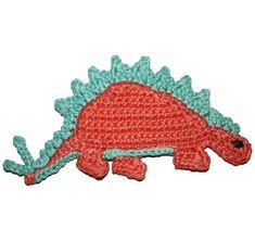 crochet toys for boys Ravelry: Stegosaurus Applique pattern by Nana Sue - Applique Stegosaurus pattern. Crochet Scarf Easy, Crochet Kids Hats, Crochet For Boys, Crochet Gifts, Crochet Animals, Crochet Baby, Free Crochet, Ravelry Crochet, Crochet Owls