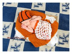 Crochet Basketball Beanie and Diaper Cover set Made to Order