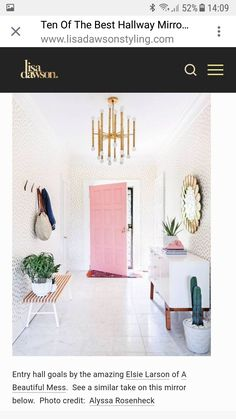 Entry Hall, Beautiful Mess, Love At First Sight, Accessories, Entrance Hall, Front Hallway, Entry Hallway